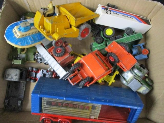 A collection of vintage die cast vehicles to include Dinky Matchbox and Corgi  image