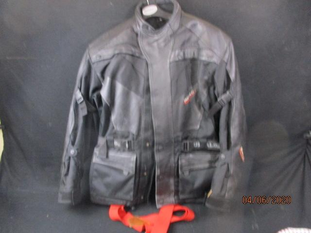 Buffalo part leather biker jacket 2XL with Richa biker pants 2XL.  image