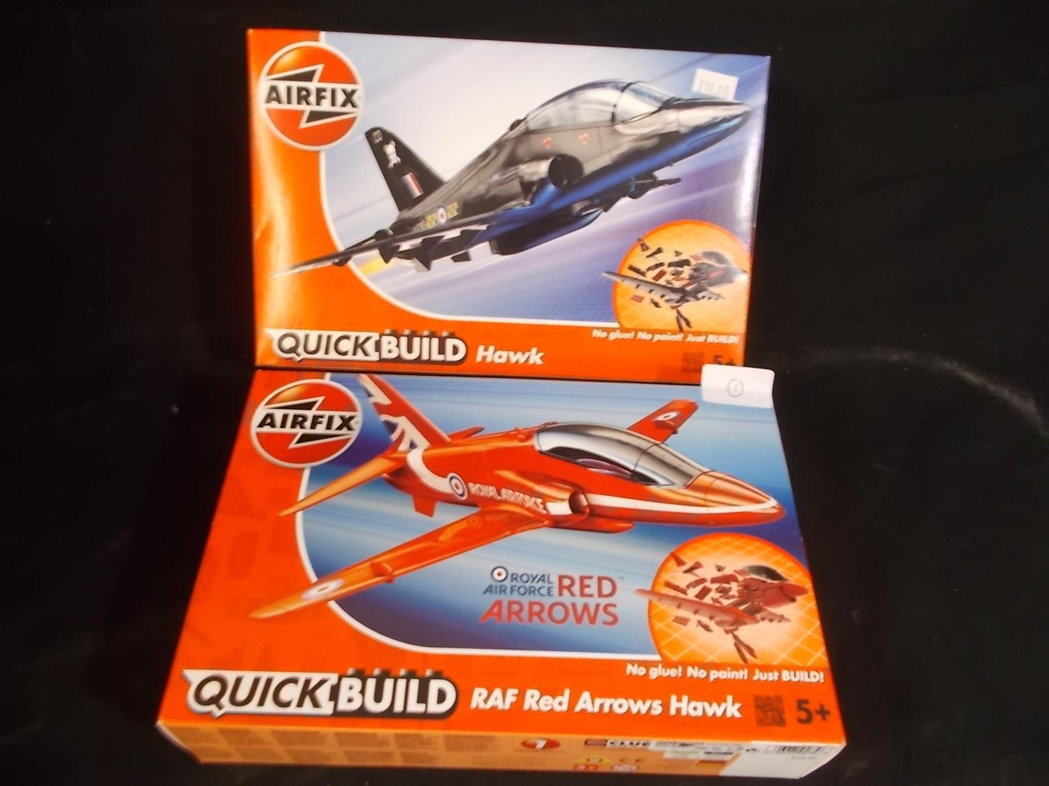 Pair of airfix quickbuild models, red arrows sealed.  image