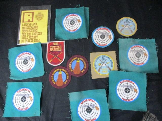 A collection of Vintage Shooting Club Badges, to include Rossendale, Bury,  Enfield  image