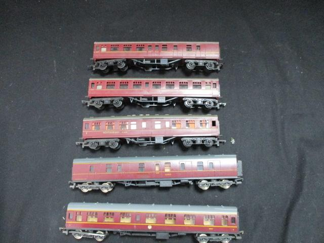 Selection of model railway carriage's  image