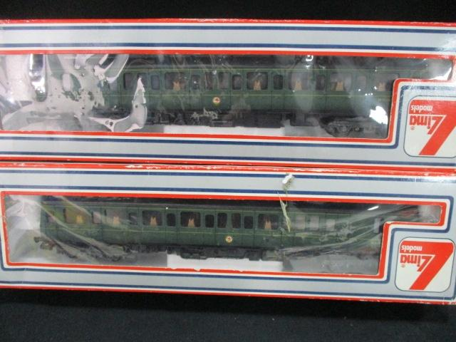 A pair of Lima model railway carriage's to include a motor carriage  image