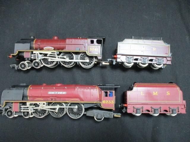 2 X Hornrby locomotives with tenders The Duke and Duchess of Sutherland  image