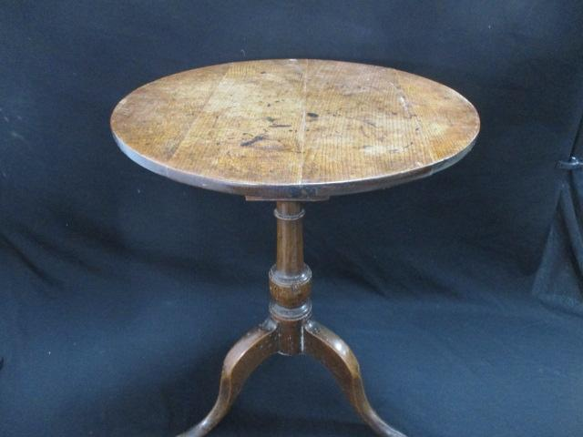 18th century tripod wine table with turned birdcage movement circa 1770 - 1780  image