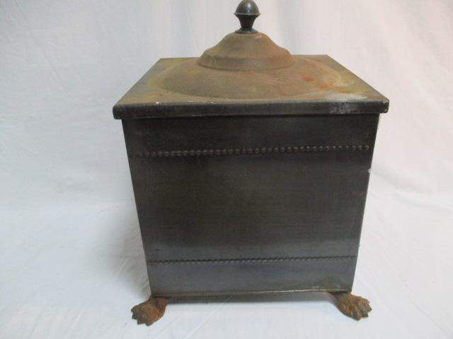 Vintage coal bucket / scuttle with liner  image
