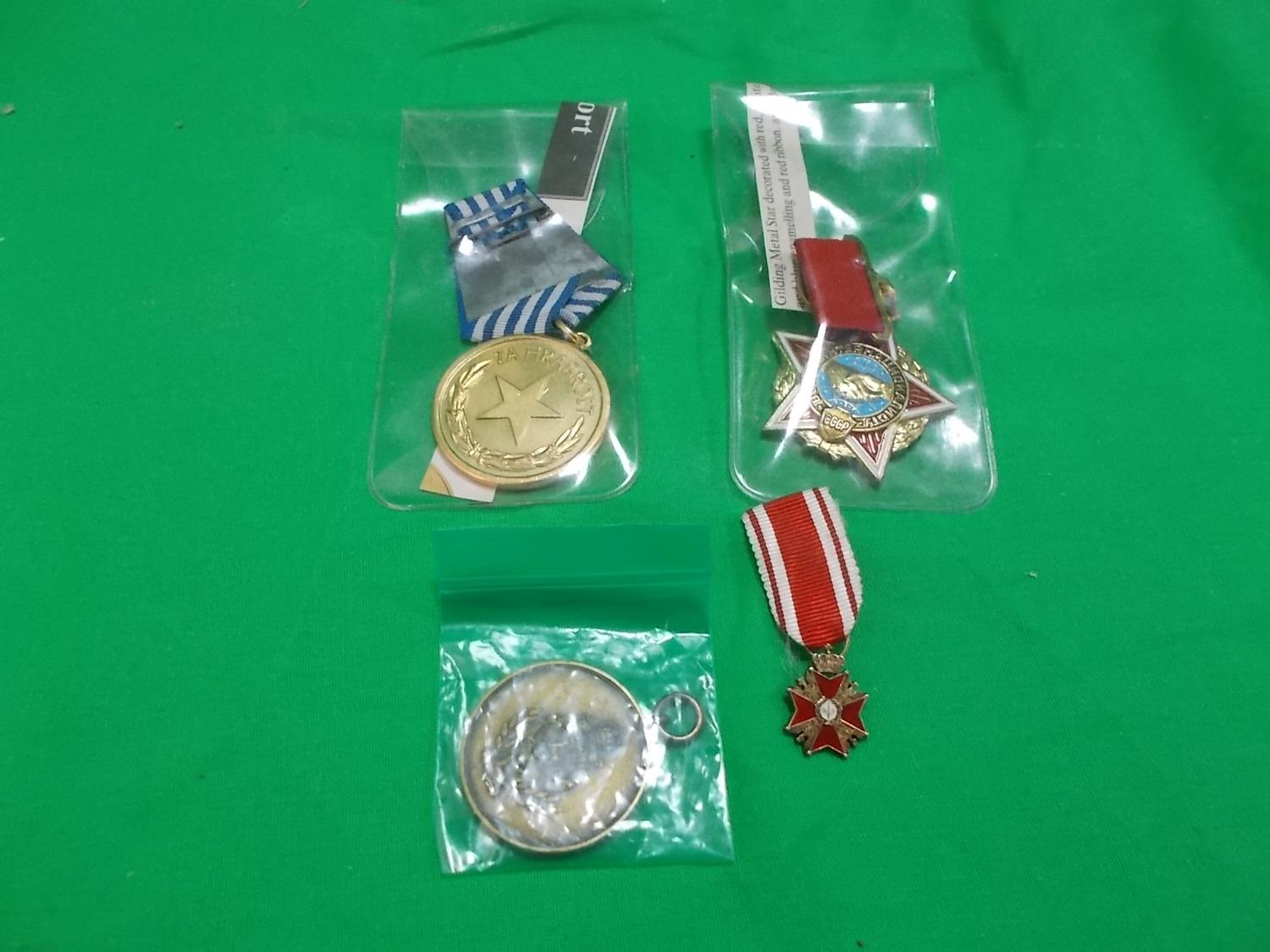 Collection of Eastern bloc medals.  image