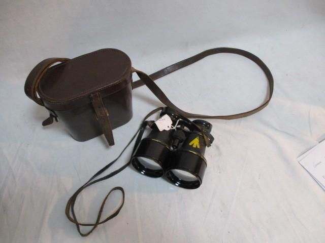 HH&Sons WW2 paratroopers binoculars liverpool marker with leather case  image
