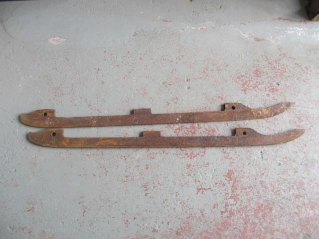 large metal sled blades  image