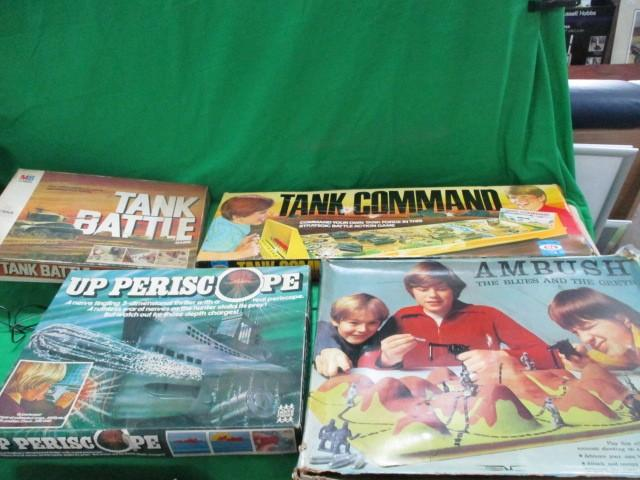 4x Board games, Tank battle, tank command, ambush and periscope  image