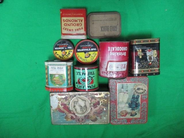 10x Vintage tin cans, Tea,Coffee,Tobacco Ect  image
