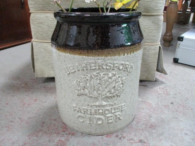 3 gallon Bethersford farmhouse cider large stonewear jar 13.5 inch  image
