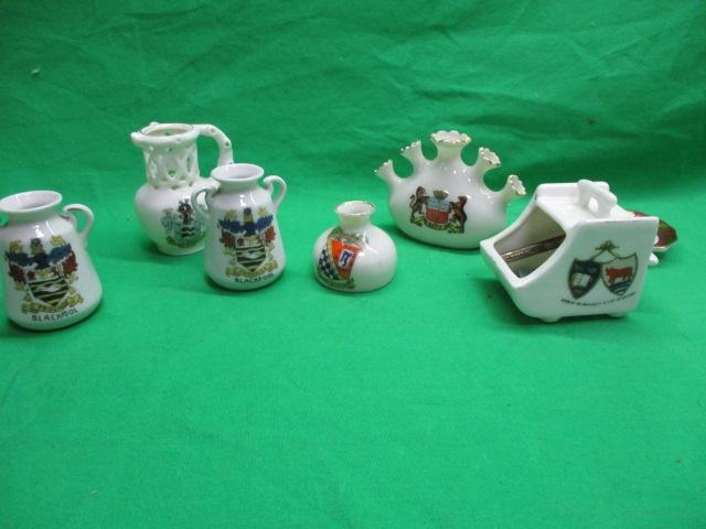 Selection of gosh crested ware.  image
