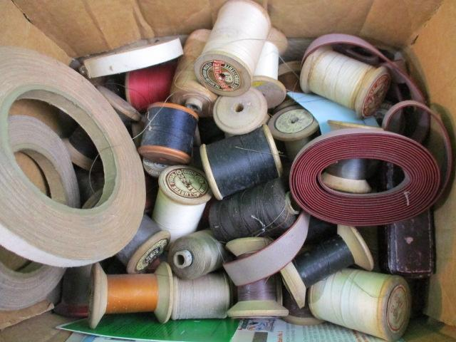 Collection of vintage reels of cotton  image