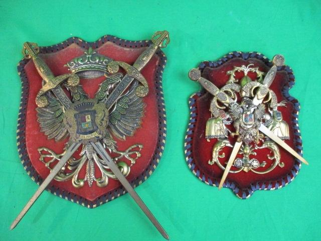 A pair of decorative coats of arms plaques  image