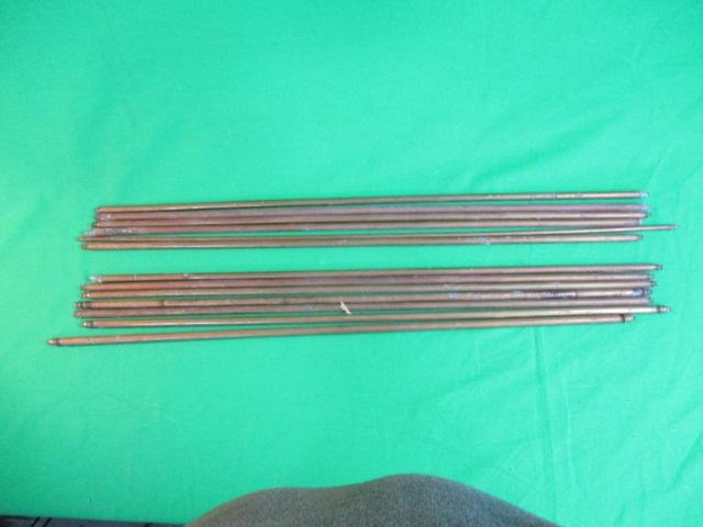 Collection of vintage brass stair rods  image