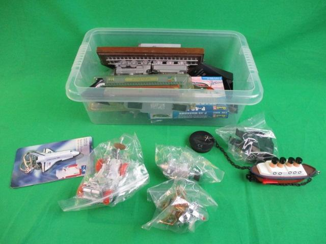 Mixed box of diecast aircraft,trains, space and star wars.  image
