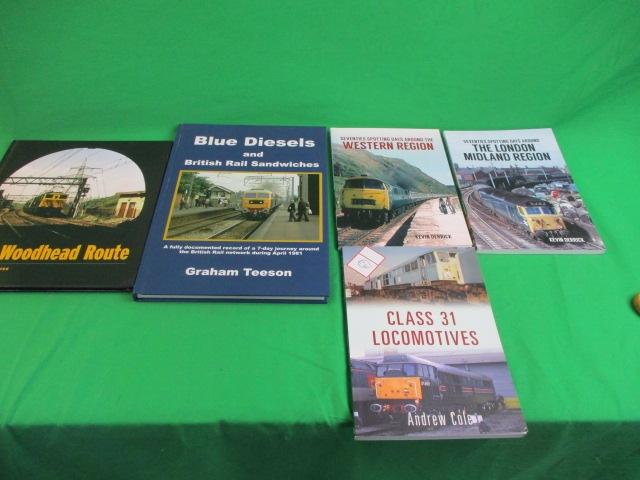 Collection of 5 railway books to include class locomotives, London & midland region etc.  image