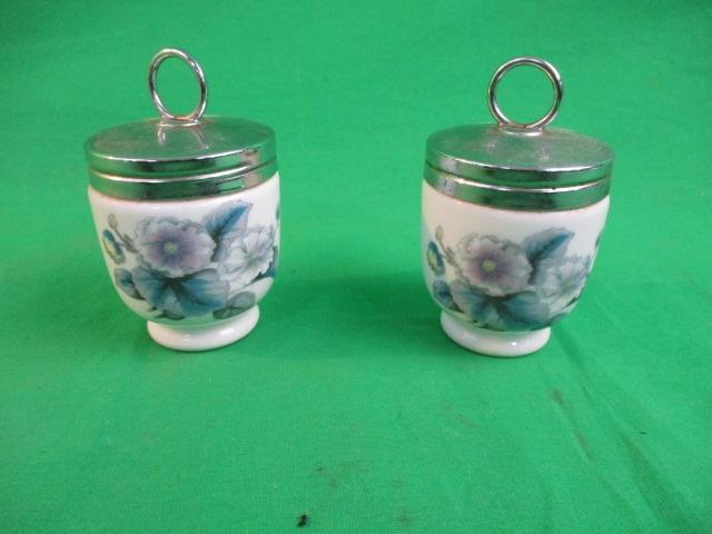 Pair of Royal Worcester coddlers.  image