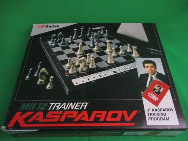 Saitech Mk12 trainer Kasparov electronic chess, boxed.  image