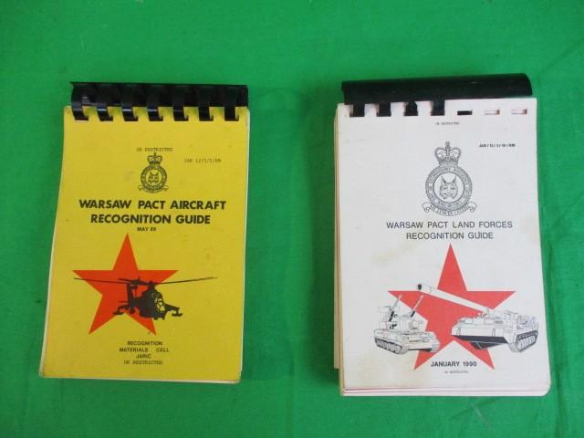 A pair of British military Warsaw Pact aircraft and land force recognition guides  image